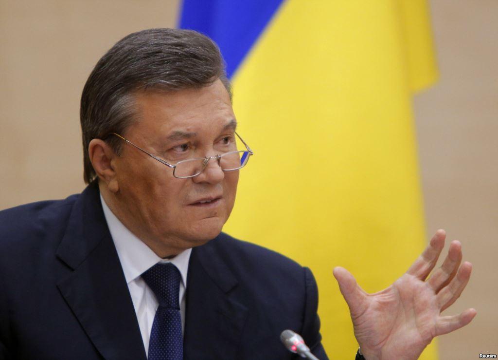 Nuverstasis Ukrainos eks-prezidentas Viktoras Janukovyčius 2014 balandžio 2 dieną televizijos interviu teigė, kad jis nedavė įsakymo žudyti žmones.